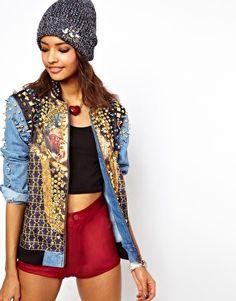 Enlarge ASOS Premium Embellished Jewel Denim Jacket, almost a bit too covered.