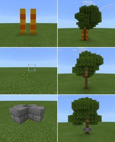 Tree shaping #minecraftbuildingideas Tree shaping