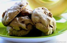 Avocado Chocolate Chip Cookies Recipe Desserts with whole wheat flour, baking soda, salt, semi-sweet chocolate morsels, avocado, splenda, eggs, vanilla extract