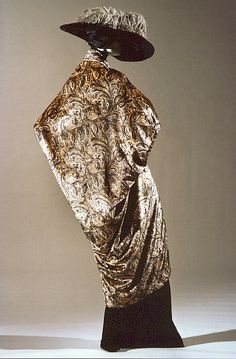 Evening coat (image 4 - back) | House of Poiret | French | 1913-19 | silk, metallic thread | Metropolitan Museum of Art | Accession Number: 1980.86
