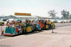 Vintage park tram which took you from your car parking space to the entrance to Disneyland. Very little walking required.