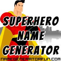 Your superhero name generator