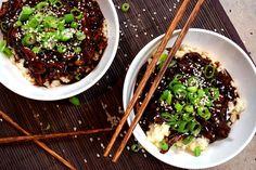 Domácí teriyaki omáčka a trhané kuřecí maso | KořeníŽivota.cz Seaweed Salad, Food Dishes, Food And Drink, Beef, Chicken, Ethnic Recipes, Asia, Meat, Ox