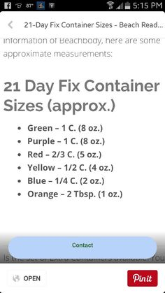 21 day fix container sizes and measurements for diy