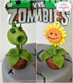 Tarta Plants vs Zombies fondant