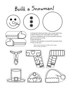 Frugal Edmonton Mama: Frugal Crafts: Preschool Snowman Shape Cutting and Piecing Activity