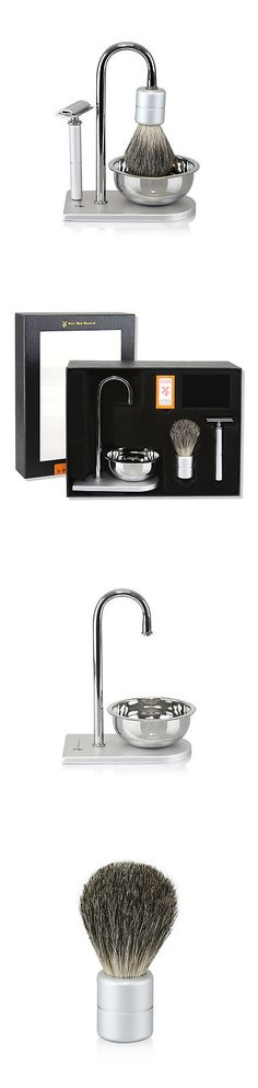 Shaving and Grooming Kits and Sets: Van Der Hagen Magnetic Force Luxury Shave Set Safety Razor Brush Soap Stand Bowl BUY IT NOW ONLY: $74.99