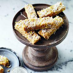 No-Bake Lemon Cake bars, an easy afternoon tea recipe from www.redonline.co.uk