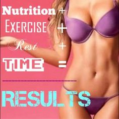 Nutrition + Exercise + Rest + Time = Results
