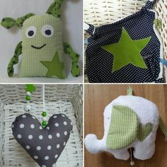 Spieluhren - Baby Geschenkset Grün - ein Designerstück von Firlefanz-Unna bei DaWanda