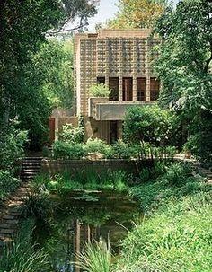 "The Millard House, also known as ""La Miniatura,"" Frank Lloyd Wright. Millard House. Pasadena. 1923 (reversed image)"