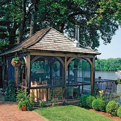 Country Living Made Beautiful  Beautiful Screened In Area On The Lake