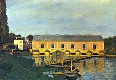 The 1859 Machine de Marly by Alfred Sisley, 1873 France painting - Google Search