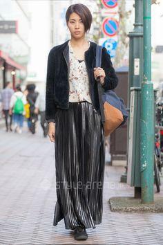 Mami   g.u.  ZARA   3rd week  Nov. 2016   Shibuya   Tokyo Street Style   TOKYO STREET FASHION NEWS   style-arena.jp