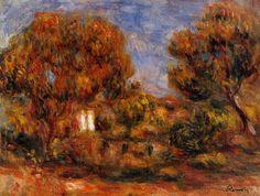 Landscape. Private Collection - Pierre-Auguste Renoir