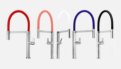 The stainless steel Ibiza Faucet by Ruvati, which measures 52-centimetres high at its arch, comes with three durable and interchangeable silicone sleeves.