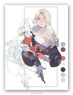 This helps me see the colors that are used within this drawing. Pretty Art, Cute Art, Art Sketches, Art Drawings, Doodle Drawing, Digital Art Tutorial, Wow Art, Aesthetic Art, Art Tutorials