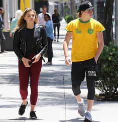 Happily ever after: The Carrie actress is currently dating Brooklyn Beckham, 17; she confirmed the relationship with the handsome star in May; pictured in June in Beverly Hills