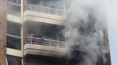 Video: Incendio en edificio de Pocitos deja diez evacuados y dos internados - El Diario