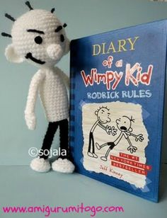 Amigurumi To Go: Diary of a Wimpy Kid Inspired Crochet Doll (Rodrick) - Amigurumi Ideas Crochet Doll Clothes, Crochet Dolls, Crochet For Kids, Free Crochet, Quick Crochet, Wimpy Kid Books, Kids Inspire, Child Doll, Boy Doll
