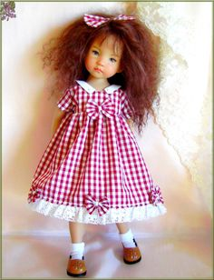 "Mary Dress for 13"" Effner Little Darling Vinyl Studio Doll 