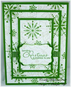 Triple Layer Christmas Card #stampinup #christmas #tripletime