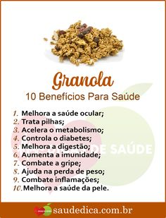 The 13 Benefits of Granola For Health! Health Diet, Health Fitness, Health Care, Dieta Flexible, Dog Food Recipes, Healthy Recipes, Wellness, Health Problems, Clean Eating Tips