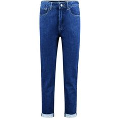 Boohoo Hatty High Rise Indigo Boyfriend Jeans | Boohoo (115 PLN) ❤ liked on Polyvore featuring jeans, high-waisted jeans, boyfriend jeans, high waisted jeans, blue boyfriend jeans and indigo jeans