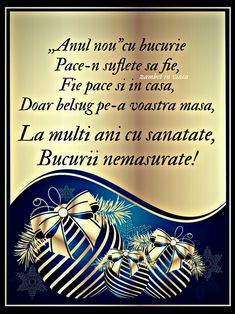 An Nou Fericit, Happy New Year Images, Christmas Cards, Happy Birthday, Romania, Happy New Year, Christmas E Cards, Happy Brithday, Urari La Multi Ani