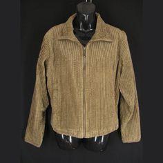 Woolrich Jacket Womens L Brown Corduroy Cotton Full Zipper Wide Wale Long Sleeve #Woolrich #Bomber #Casual