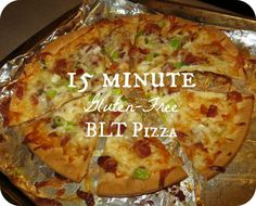 15 min Gluten-free BLT Pizza....easy recipe for when I don't want to cut up all the fixings!