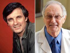 """Alan Alda (Captain Benjamin Franklin """"Hawkeye"""" Pierce) played the illustrious… Old Tv Shows, Best Tv Shows, Favorite Tv Shows, Actors Then And Now, Celebrities Then And Now, Hawkeye Comic, Hawkeye Avengers, Hawkeye Costume, Alan Alda"""