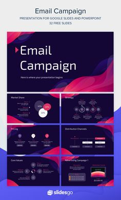 Email Campaign, Advertising Campaign, Presentation Design, Presentation Templates, Design Campaign, Keynote Design, Slide Design, Ppt Themes, Infographic