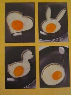 Novelty egg and pancake rings