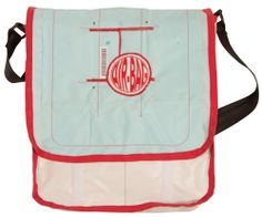 The #Postmanbag  100% recylced aitbags
