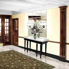 Apartment Building Hallway Carpet residential hallway and mirror | sygrove hallway work | pinterest
