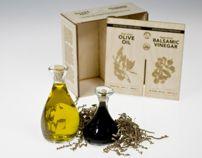 Olive Oil/Balsamic Vinegar Set in Hand-Blown Glass by Riley Sykes, via Behance