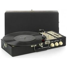 RICATECH Gramofon RTT98 Black Turntable, Music Instruments, Record Player, Musical Instruments