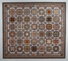 idea for taupe fabric quilt