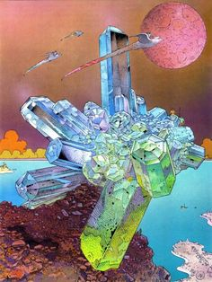 This looks like Moebius. I wish I knew who did it. Maybe if someone would have sited the artist.