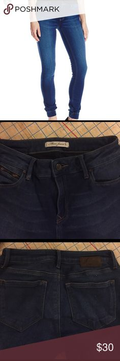 Mavi Adriana jogger jean size 28 This is a reposh. Very cute jogger jean by Mavi. Wash is a dark indigo with a small bit off fading down the front of the legs. This jean fabric is awesome. Hard to describe but it's so stretchy and soft, silky. Really nice jeans but not flattering on me. Gonna list what I paid but make an offer if your interested. These would be fun jeans for the spring. Mavi Jeans