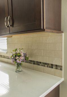Photo courtesy of Brianna Hogberg, KSI Designer. Merillat Masterpiece Martel Cherry in Kaffe. Transitional Kitchen, Kitchen And Bath, Kitchen Design, Kitchens, Cherry, Kitchen Cabinets, Bathroom, Home Decor, Washroom
