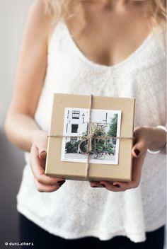 Geschenkverpackung Ideen Fotos Erinnerung