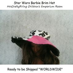 Star Wars Brim Beach Barbie Doll Hat by MrsCraftyRVing on Etsy, $3.00 | #handmade #Barbie #dollsclothes