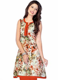 Printed Multi-Color Cotton Kurti