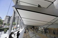 """""""The Avenue"""" is seen at lower right during a preview of the new Apple Union Square store Thursday, May 19, 2016, in San Francisco. Apple is getting ready to unveil a stylish new product that's not for sale, a new look for its stores. The iPhone maker is overhauling its nearly 480 stores worldwide, starting with its new location in San Francisco. Photo: Eric Risberg, Associated Press"""