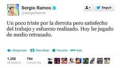 Jajajajjajajaja Sergio Ramos se autoproclama medio retrasado