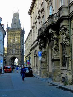 The Powder Tower, Prague, Czech Republic. Built in the 11th century, the tower was one of the original gates into the Old Town. During the 17th century, the tower was used for storing gunpowder, hence the name. By Luis Jacome.