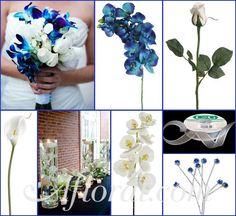 #blue wedding #blue and white wedding #afloral http://blog.afloral.com/daily-scoop/blue-and-white-orchid-wedding-flowers-heathers-inspiration-board/#.Ujxc2MasiSo