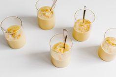 Meyer Lemon Pots de Créme on Faring Well Bourbon Drinks, Whiskey Cocktails, No Cook Desserts, Vegan Dessert Recipes, Vegan Pudding, Pots, New Cookbooks, Recipes From Heaven, Panna Cotta